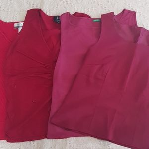 Benetton, INC, H&M, and Nine and Co Red Tops